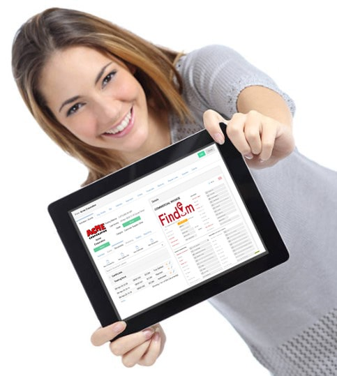 Woman Showing CRM on IPad